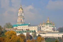 Vista do Kiev Lavra no outono Fotos de Stock Royalty Free