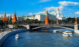 Vista do Kremlin de Moscou - Rússia Foto de Stock Royalty Free