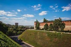 Vista do Kremlin de Nizhny Novgorod fotos de stock royalty free