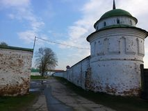 Vista do Kremlin de Ryazan, o anel dourado de R?ssia fotografia de stock royalty free