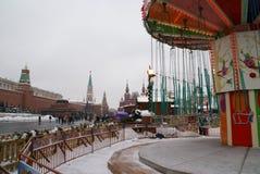 Vista do Kremlin e o centro histórico de Moscou Fotografia de Stock