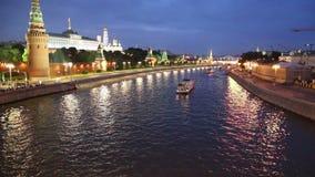 Vista do Kremlin e do rio de Moskva, Moscou, Rússia--a vista a mais popular de Moscou filme