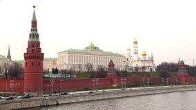 Vista do Kremlin no timelapse de Moscou filme