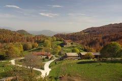 Vista do La Garrotxa.Catalonia.Spain imagens de stock royalty free