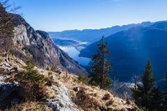 Vista do lago Bohinj Fotografia de Stock