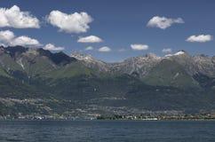 Vista do lago Como fotografia de stock royalty free
