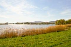 Vista do lago de Madine Fotografia de Stock Royalty Free