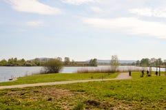 Vista do lago de Madine Imagens de Stock Royalty Free