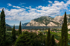 Vista do lago Garda Foto de Stock