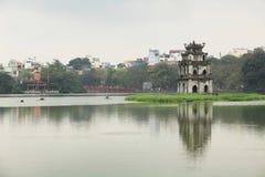 Vista do lago Hoan Kiem Imagens de Stock