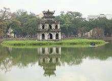 Vista do lago Hoan Kiem Foto de Stock