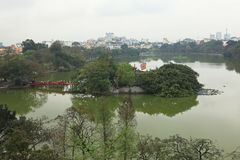 Vista do lago Hoan Kiem Fotos de Stock