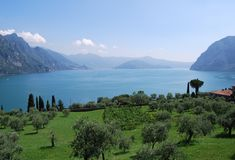 Vista do lago Iseo Imagem de Stock Royalty Free