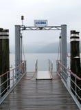 Vista do lago Maggiore em Ascona Foto de Stock Royalty Free
