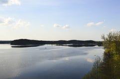 Vista do lago Zarasas Imagem de Stock Royalty Free