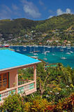 Vista do louro de Admiralty no console de Bequia Imagem de Stock