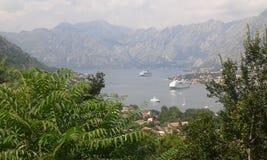 Vista do louro de Kotor foto de stock