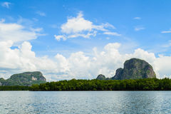 Vista do louro de Phang Nga Imagem de Stock Royalty Free