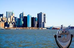 Vista do Lower Manhattan Imagens de Stock