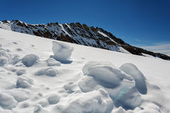 Vista do maciço de Eiger, de Monch e de Jungfrau, cumes suíços, Suíça, Europa Fotografia de Stock Royalty Free