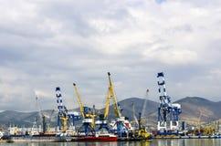 Vista do mar ao porto Imagem de Stock Royalty Free