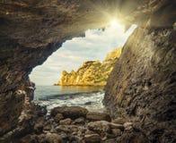 Vista do mar cave_1 foto de stock