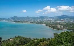Vista do mar de Andaman do ponto de visão, Phuket Fotos de Stock