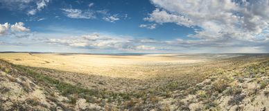 Vista do mar de Aral imagens de stock royalty free