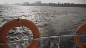 Vista do Mar Negro do verso do iate Ucrânia, Odessa filme