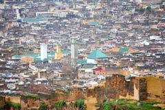 Vista do medina de Fez Fotos de Stock Royalty Free
