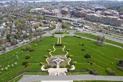 Vista do memorial nacional maçónico de Washington Fotografia de Stock