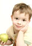 Vista do menino agradável com um g Foto de Stock Royalty Free