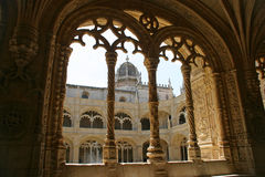Vista do monastério de Jeronimos Imagens de Stock Royalty Free