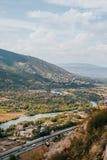Vista do monastério de Jvari imagem de stock