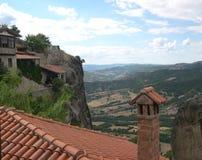 Vista do monastério de Meteora Imagem de Stock Royalty Free