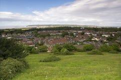 Vista do montanhês de Weston Super Mare, Somerset, Reino Unido Imagem de Stock Royalty Free