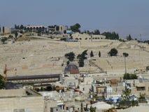 Vista do Monte das Oliveiras no Jerusalém imagens de stock royalty free