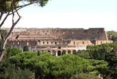 Vista do monte de Palatine no Colosseum, Roma, Lazio fotografia de stock royalty free
