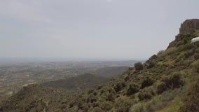 Vista do monte de Stavrovouni video estoque