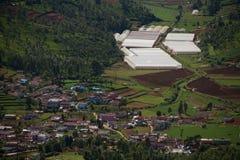 Vista do monte Eric de Ooty da cidade, Tamil Nadu, Índia Fotografia de Stock