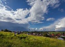 Vista do monte Pereslavl-Zalessky Rússia Imagem de Stock