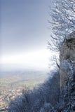 Vista do monte Titano Fotos de Stock Royalty Free