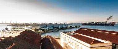 Vista do museu do amanhã em Rio de janeiro pelo por do sol Foto de Stock Royalty Free