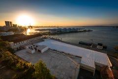 Vista do museu do amanhã em Rio de janeiro pelo por do sol Fotografia de Stock