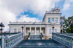 Vista do museu da cidade de Druskininkai em Druskininkai, Lituânia fotos de stock