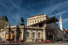 Vista do museu de Albertina, Viena Áustria fotos de stock royalty free