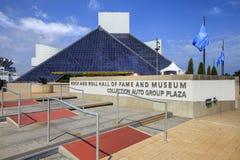 Vista do museu do rock and roll, Ohio, EUA Fotos de Stock