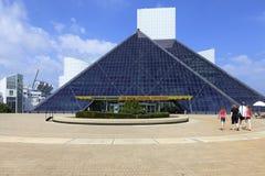 Vista do museu do rock and roll, Ohio, EUA Imagem de Stock Royalty Free