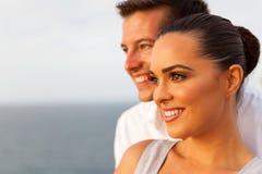 Vista do noivo da mulher Imagem de Stock Royalty Free