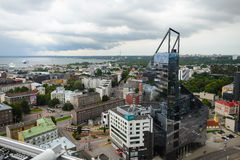Vista do 24o assoalho à cidade moderna, Tallinn Imagem de Stock